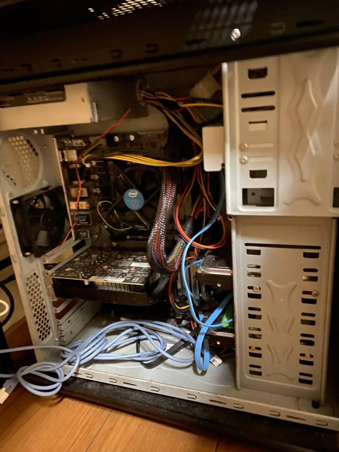 初期に自作した自作PCが発掘された。