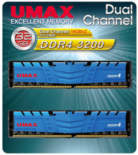 umax UM-DDR4D-3200-32GBHS [DDR4 PC4-25600 16GB 2枚組]