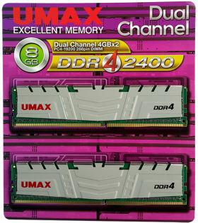 umax UM-DDR4D-2400-8GBHS [DDR4 PC4-19200 4GB 2枚組]