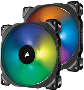 Corsair ML140 PRO RGB 2Fan Pack with Lighting Node PRO CO-9050078-WW