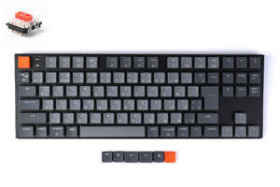Keychron K1 Wireless Mechanical Keyboard White LED テンキーレス 日本語 赤軸
