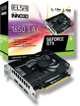 GeForce GTX 1650 S.A.C GD1650-4GERS [PCIExp 4GB]