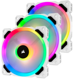 Corsair LL120 RGB 3Fan Pack with Lighting Node PRO CO-9050092-WW [ホワイト]