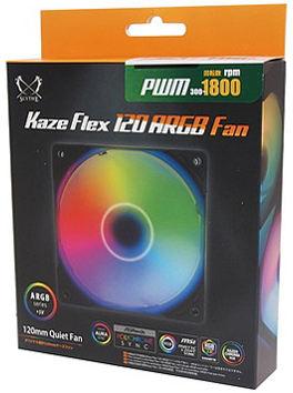サイズ KAZE FLEX 120 ARGB PWM 1800rpm KF1225FD18AR-P