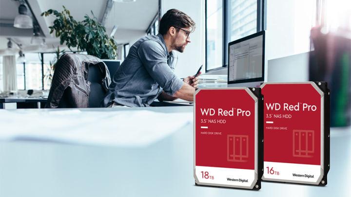 ウエスタンデジタルがNAS用の16TBおよび18TBHDDを発表
