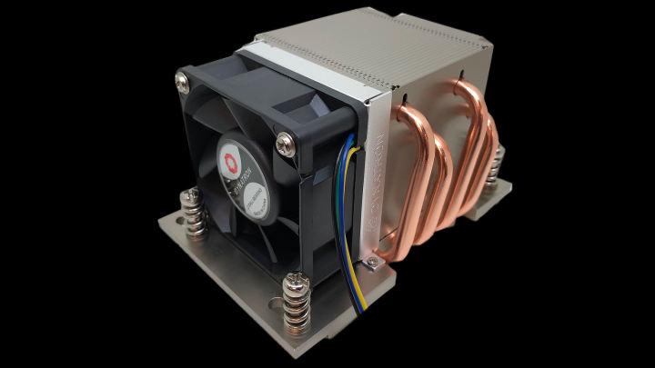 ダイナトロンのEPYC threadripper CPUクーラーは、ジェットエンジンのように高速回転する