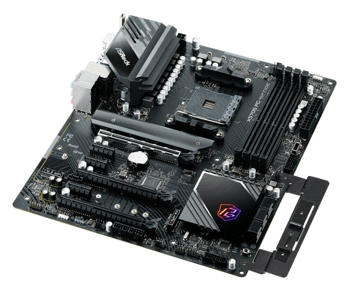 X570Sマザーボードには、GPUホルダーが内蔵されます。