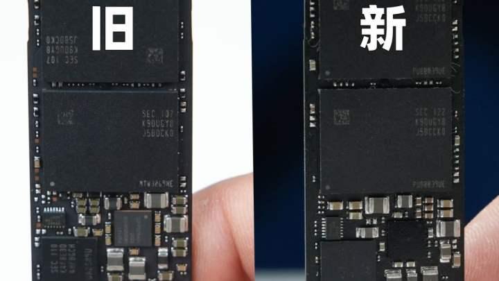 Old 970 Evo Plus (Left) vs. New 970 Evo Plus (Right)