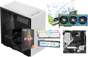 GeForce RTX 3070 GameRock に Ryzen 5 5600X と MACUBE 110 WHITE に B550 マザー 18万円台 自作PC構成