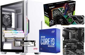 GeForce RTX 3070 GamingPro OC に Core i9 10900KF と AS500 に XPG STARKER White に Z490-A PRO 20万円台 自作PC構成 #0
