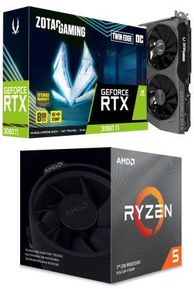GeForce RTX 3060 Ti と Ryzen 5 3600XT に Windows 10 Home 15万円台 自作PC構成