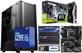 GAMING GeForce RTX 2060 Twin Fan と Core i5 10400F に 黒鴉 JAX-03W に Z490-A PRO 10万円台 自作PC構成 #0