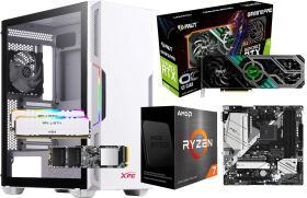 GeForce RTX 3070 GamingPro OC に Ryzen 7 5800X と AS500 に XPG STARKER White に B550M Pro4 20万円台 自作PC構成 #0